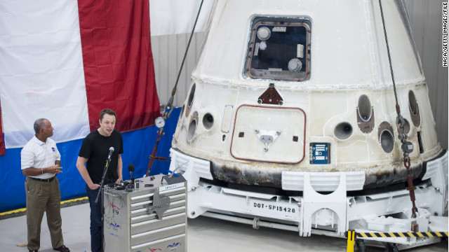 Uno de los inventos Espaciales de SpaceX (SpaceX Dragon)